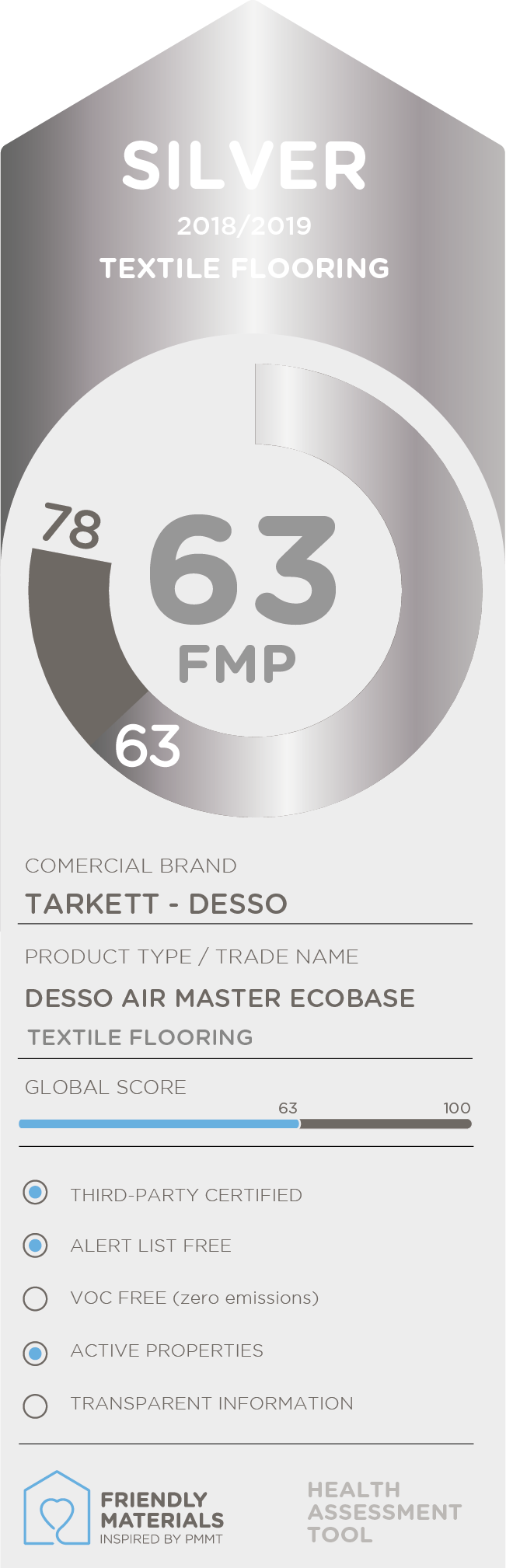 Desso AirMaster Ecobase silver 63