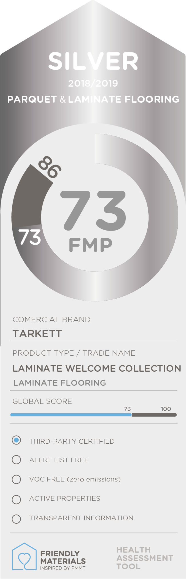 Laminate Welcome Collection  silver 73