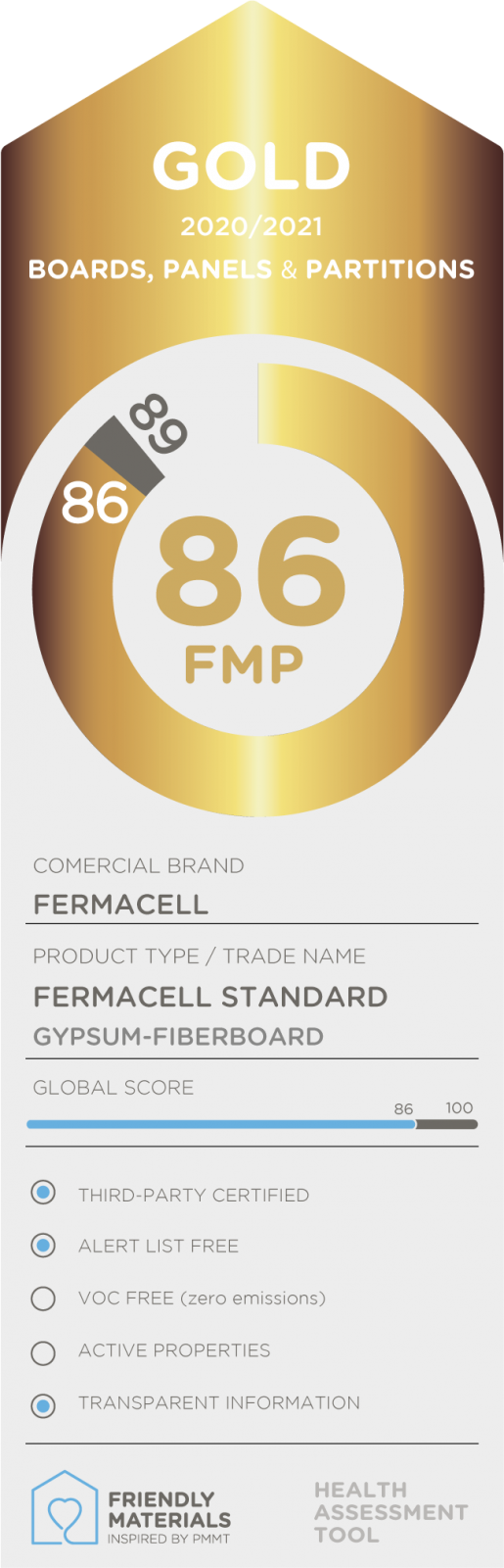 Fermacell Standard  gold 86
