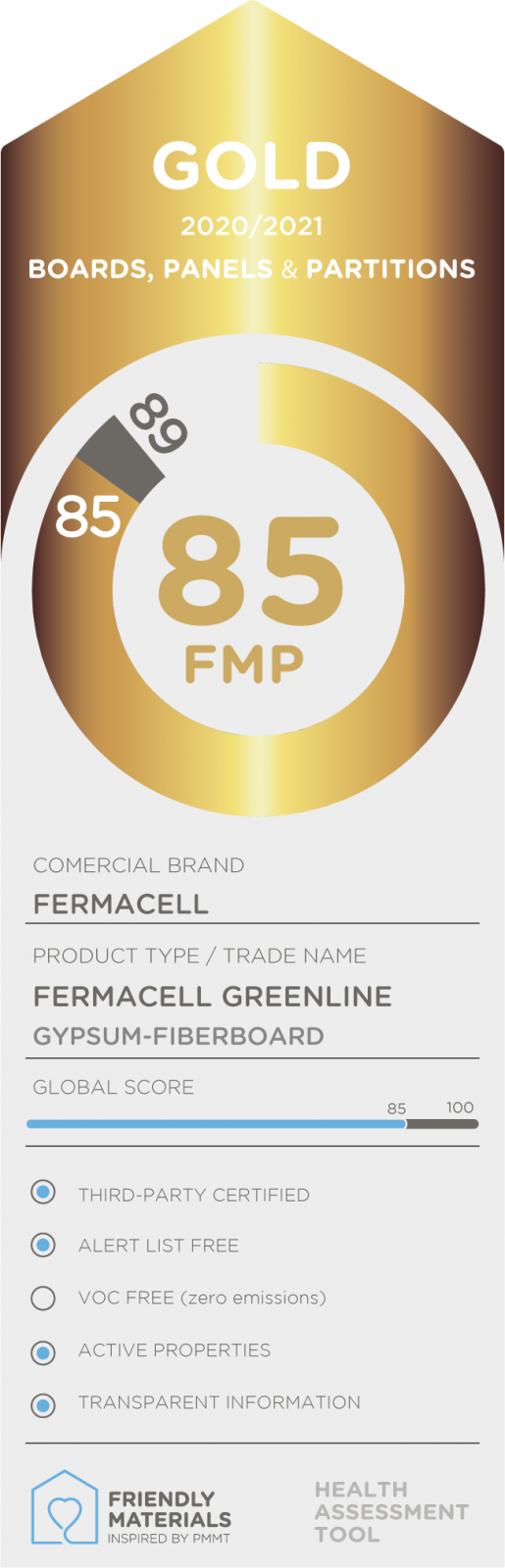 Fermacell Greenline gold 85